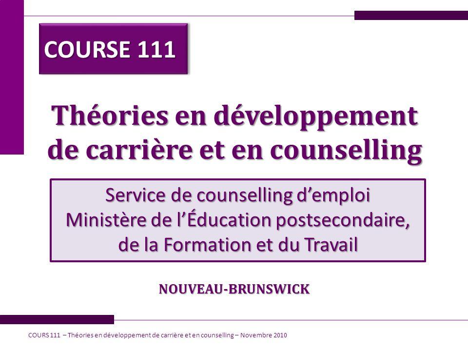 Théories en développement de carrière et en counselling