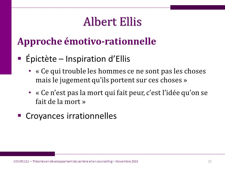 Albert Ellis Approche émotivo-rationnelle