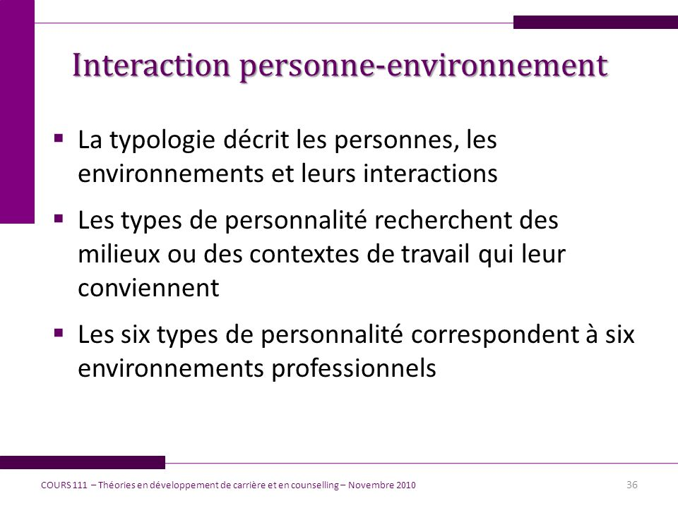 Interaction personne-environnement
