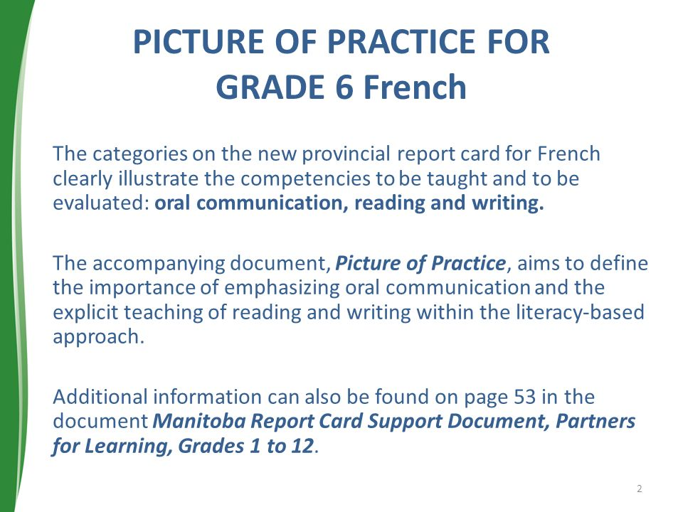PICTURE OF PRACTICE FOR GRADE 6 French
