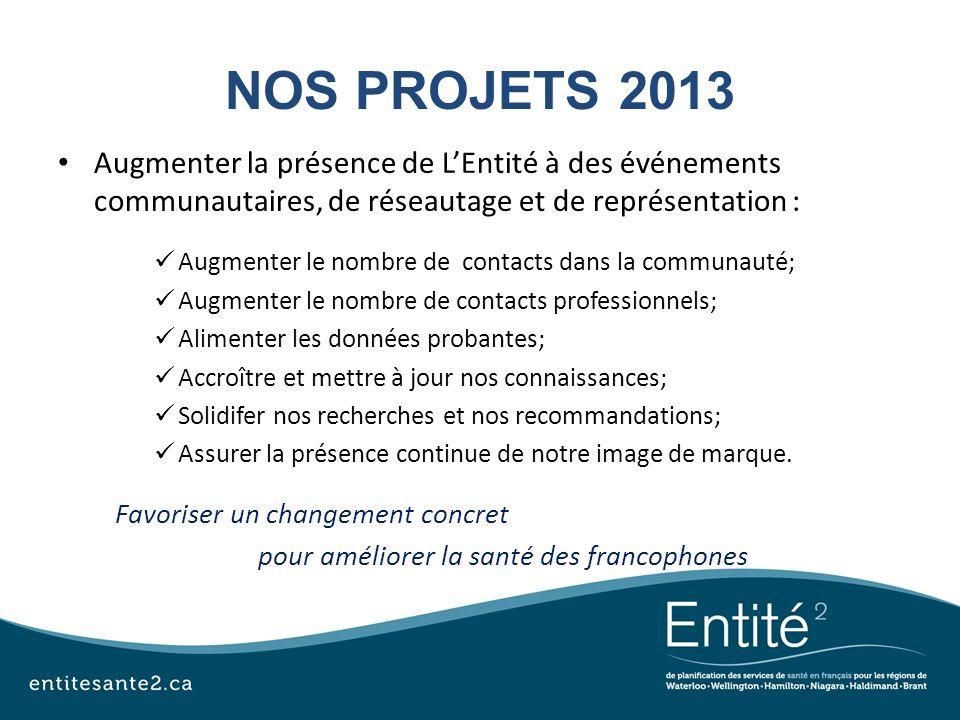 pour améliorer la santé des francophones