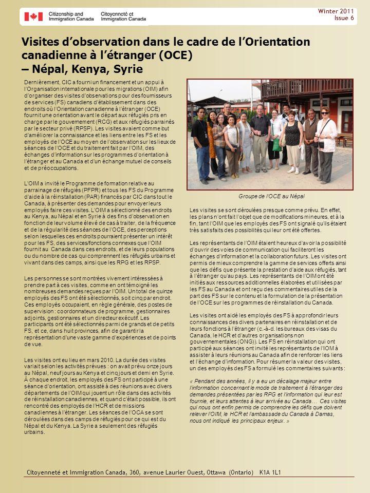 Groupe de l'OCE au Népal