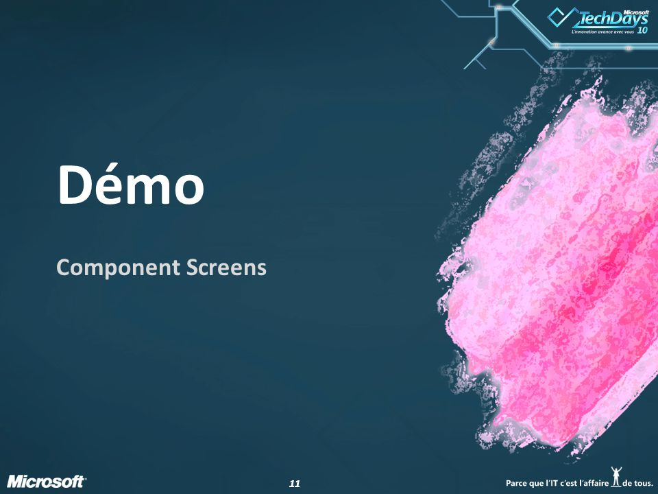 Démo Component Screens