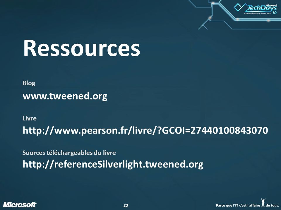 Ressources Blog www.tweened.org