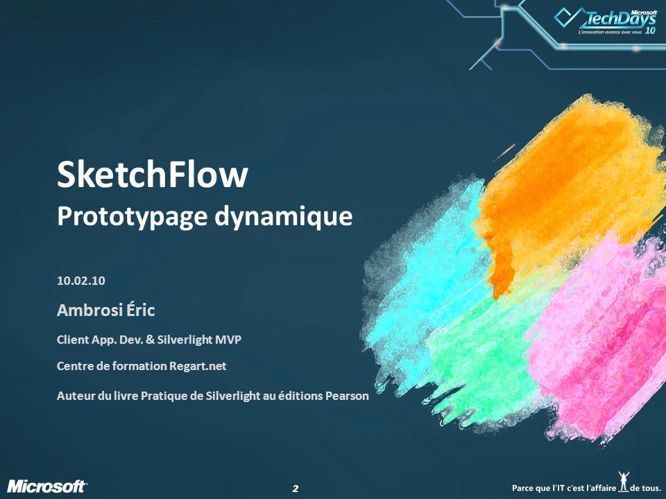 SketchFlow Prototypage dynamique