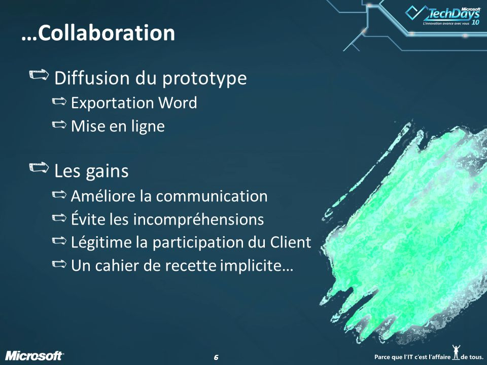 …Collaboration Diffusion du prototype Les gains Exportation Word