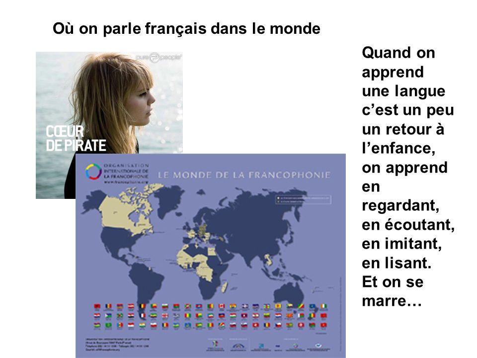 Où on parle français dans le monde