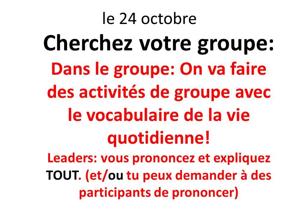 Cherchez votre groupe: