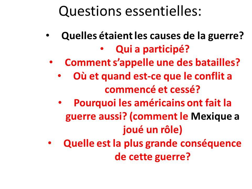 Questions essentielles: