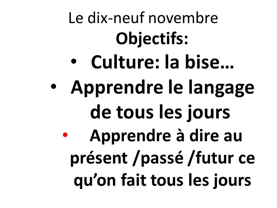 Culture: la bise… Apprendre le langage de tous les jours
