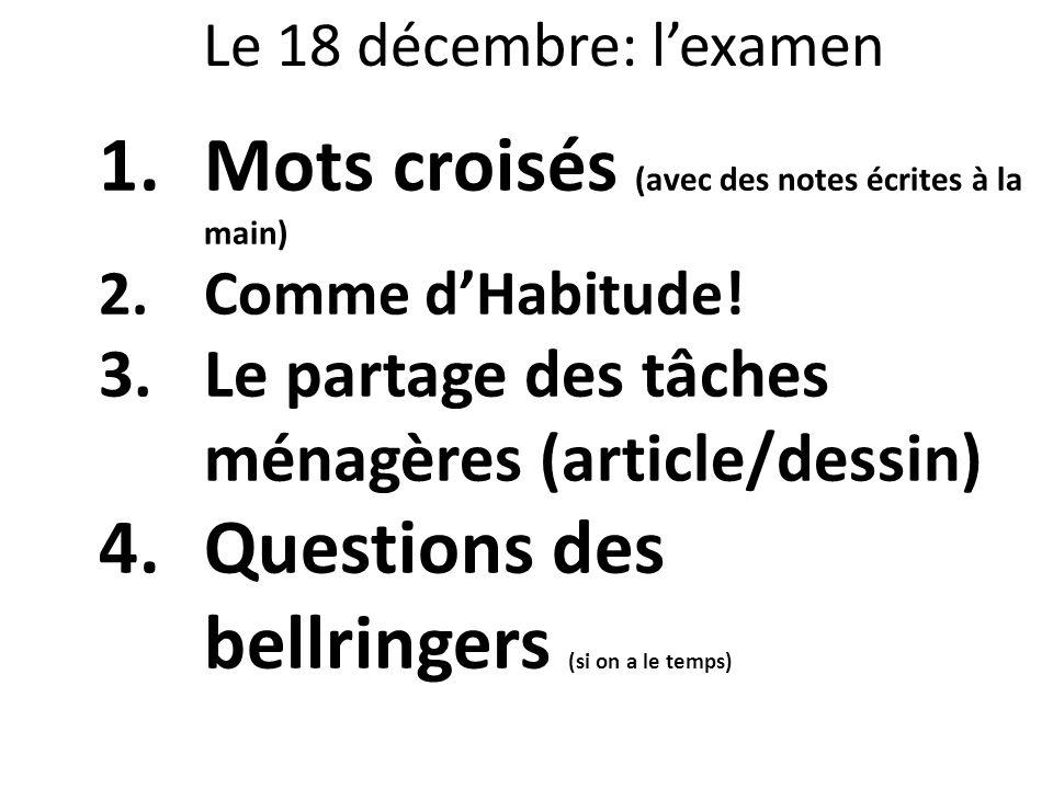 Mots croisés (avec des notes écrites à la main)