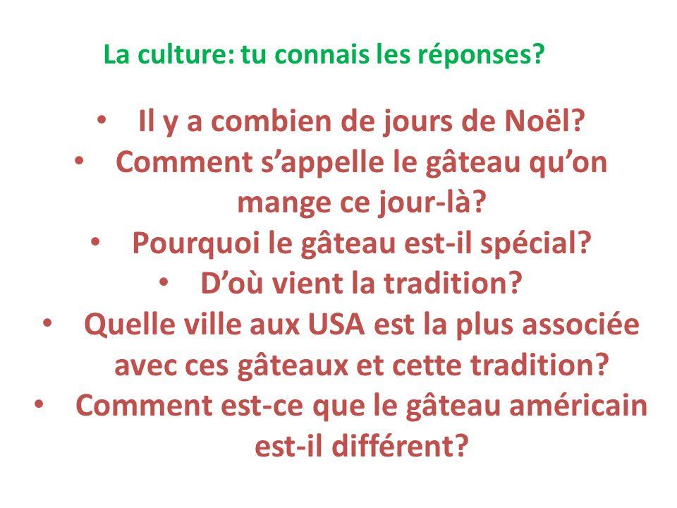 La culture: tu connais les réponses