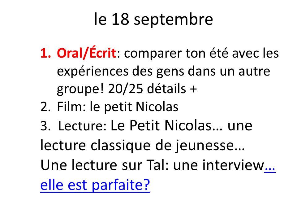 le 18 septembre Une lecture sur Tal: une interview… elle est parfaite