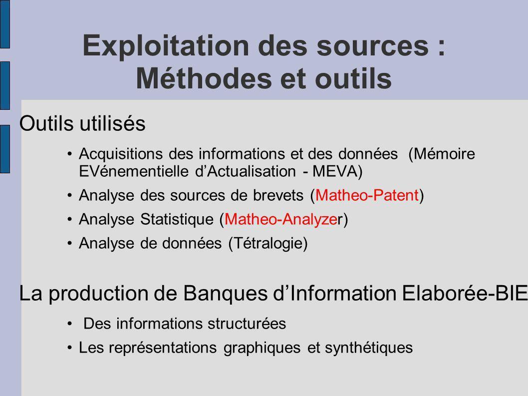 Exploitation des sources : Méthodes et outils