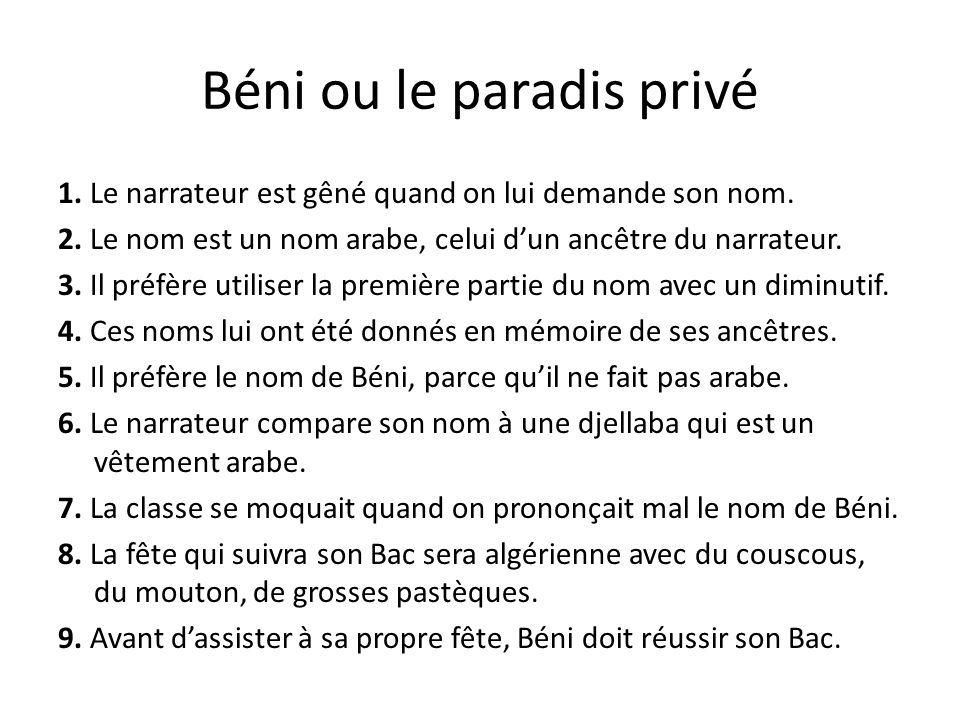 Béni ou le paradis privé