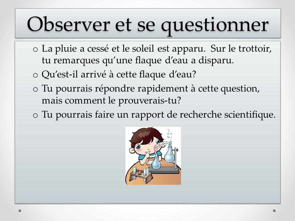 Observer et se questionner
