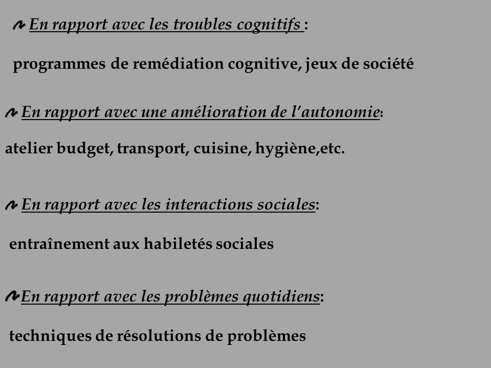 programmes de remédiation cognitive, jeux de société