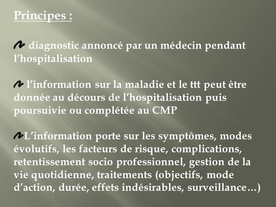 diagnostic annoncé par un médecin pendant l'hospitalisation