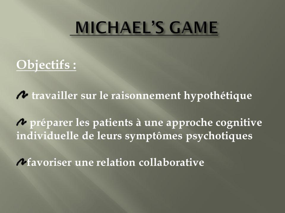 MICHAEL'S GAME Objectifs : travailler sur le raisonnement hypothétique