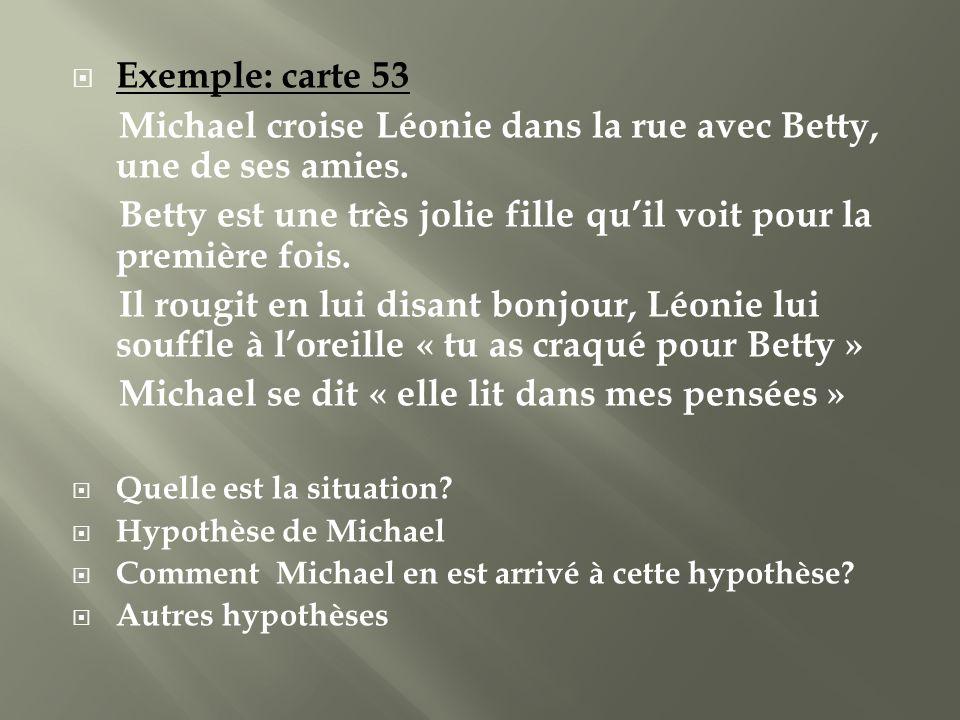 Michael croise Léonie dans la rue avec Betty, une de ses amies.
