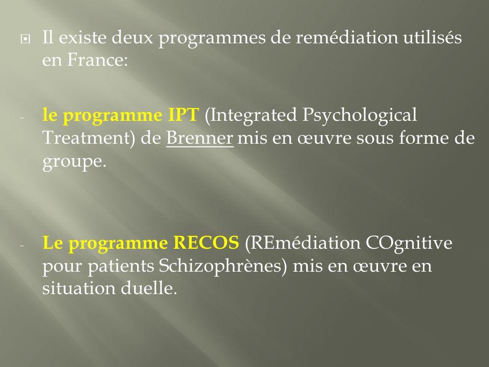 Il existe deux programmes de remédiation utilisés en France: