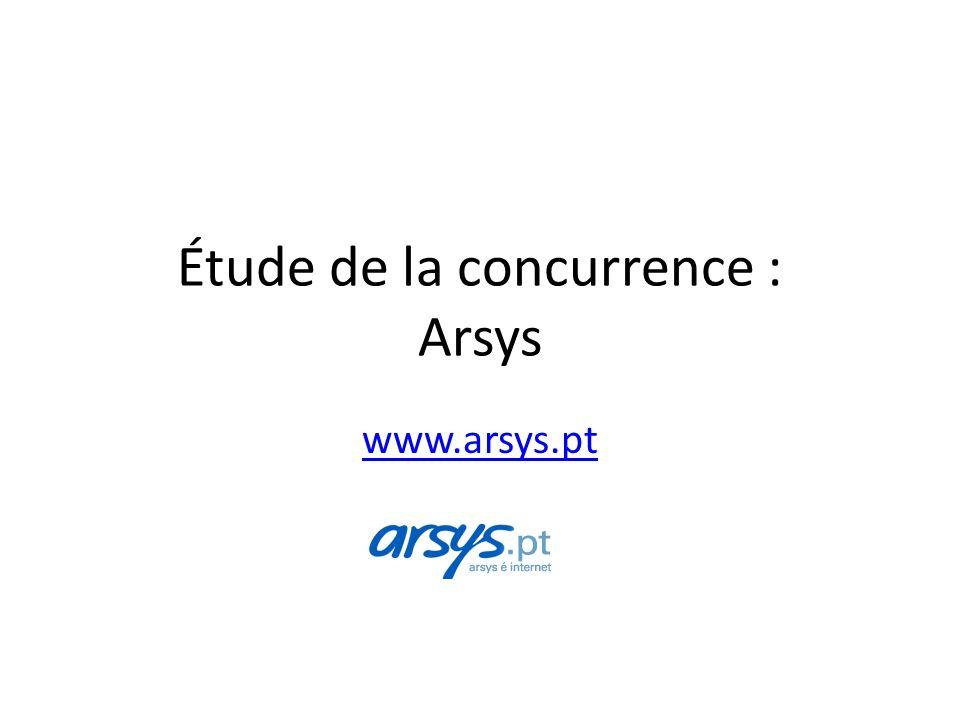 Étude de la concurrence : Arsys