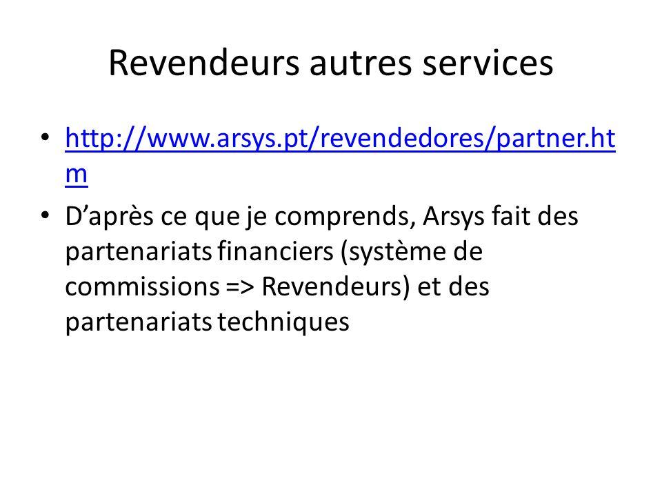 Revendeurs autres services