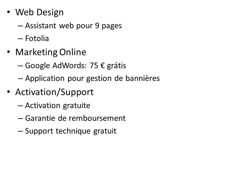 Web Design Marketing Online Activation/Support