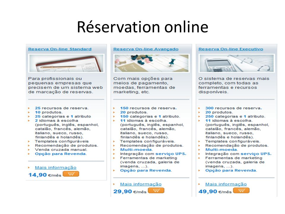 Réservation online