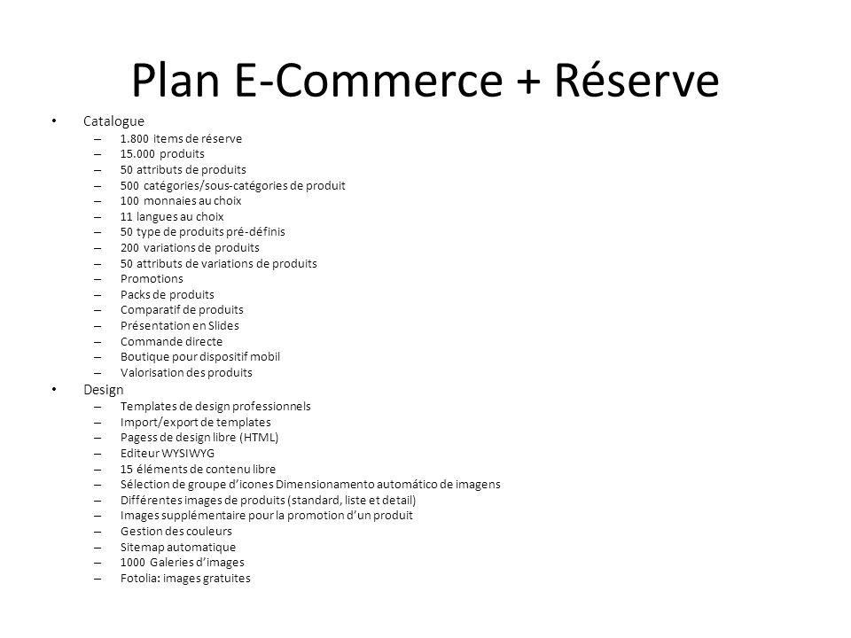Plan E-Commerce + Réserve