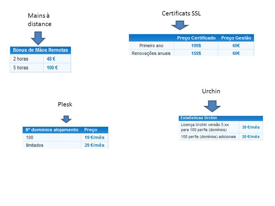 Certificats SSL Mains à distance Urchin Plesk