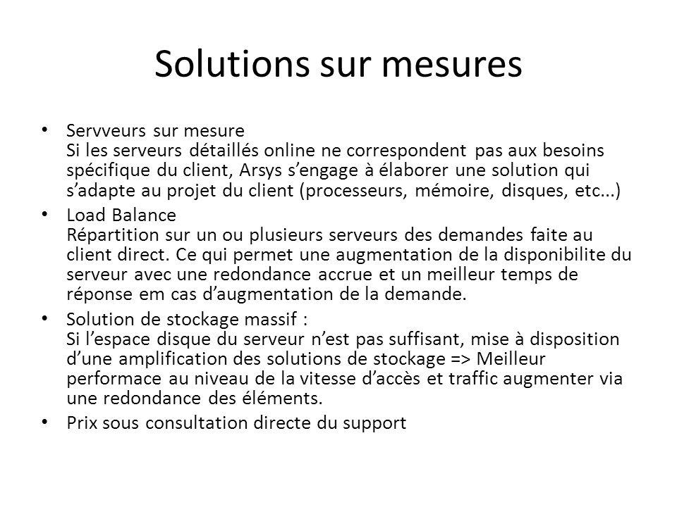 Solutions sur mesures