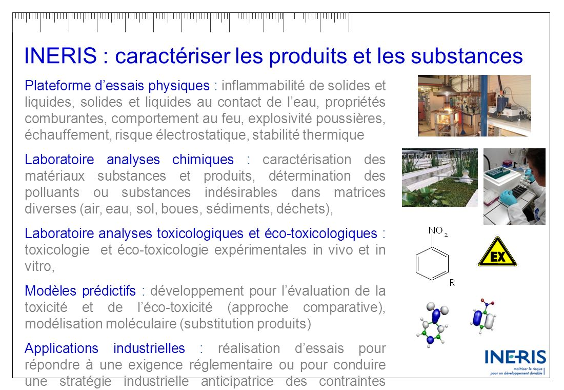 INERIS : caractériser les produits et les substances