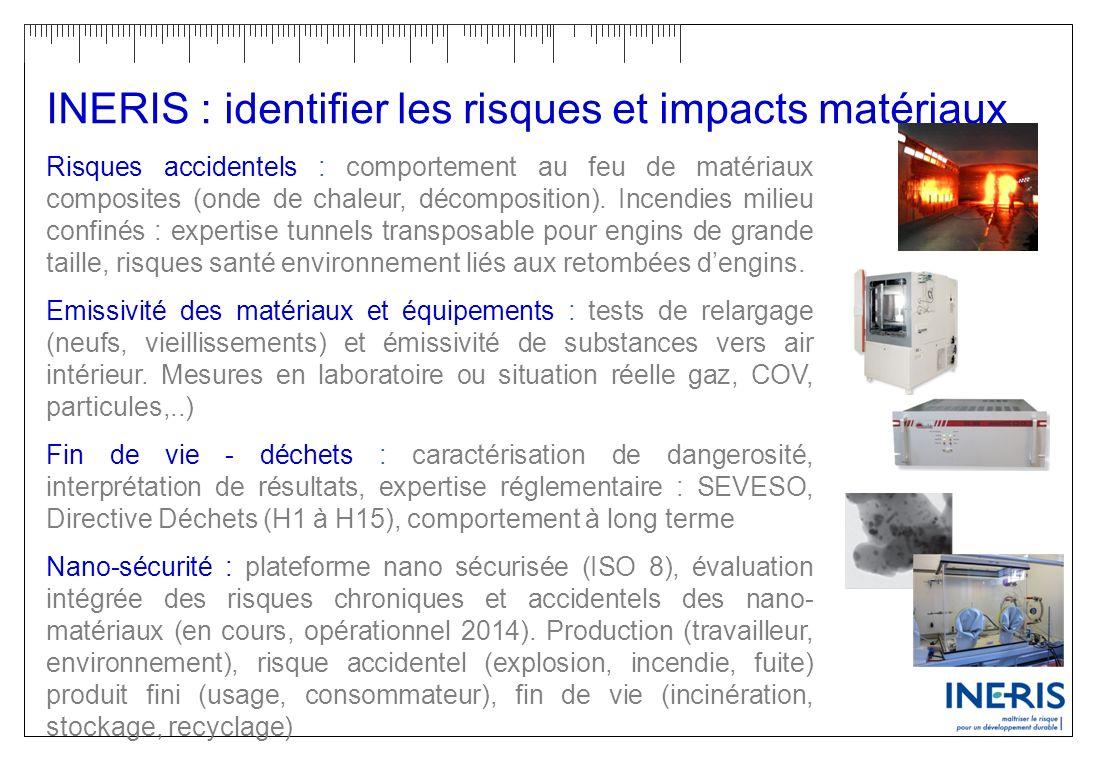INERIS : identifier les risques et impacts matériaux