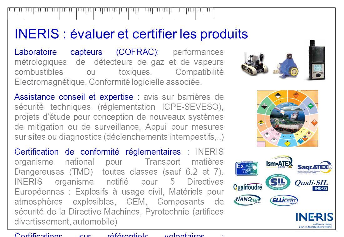 INERIS : évaluer et certifier les produits