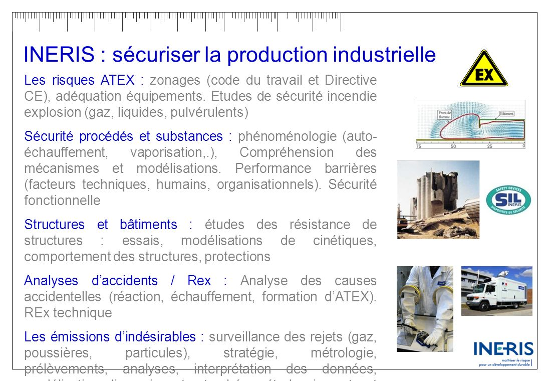 INERIS : sécuriser la production industrielle