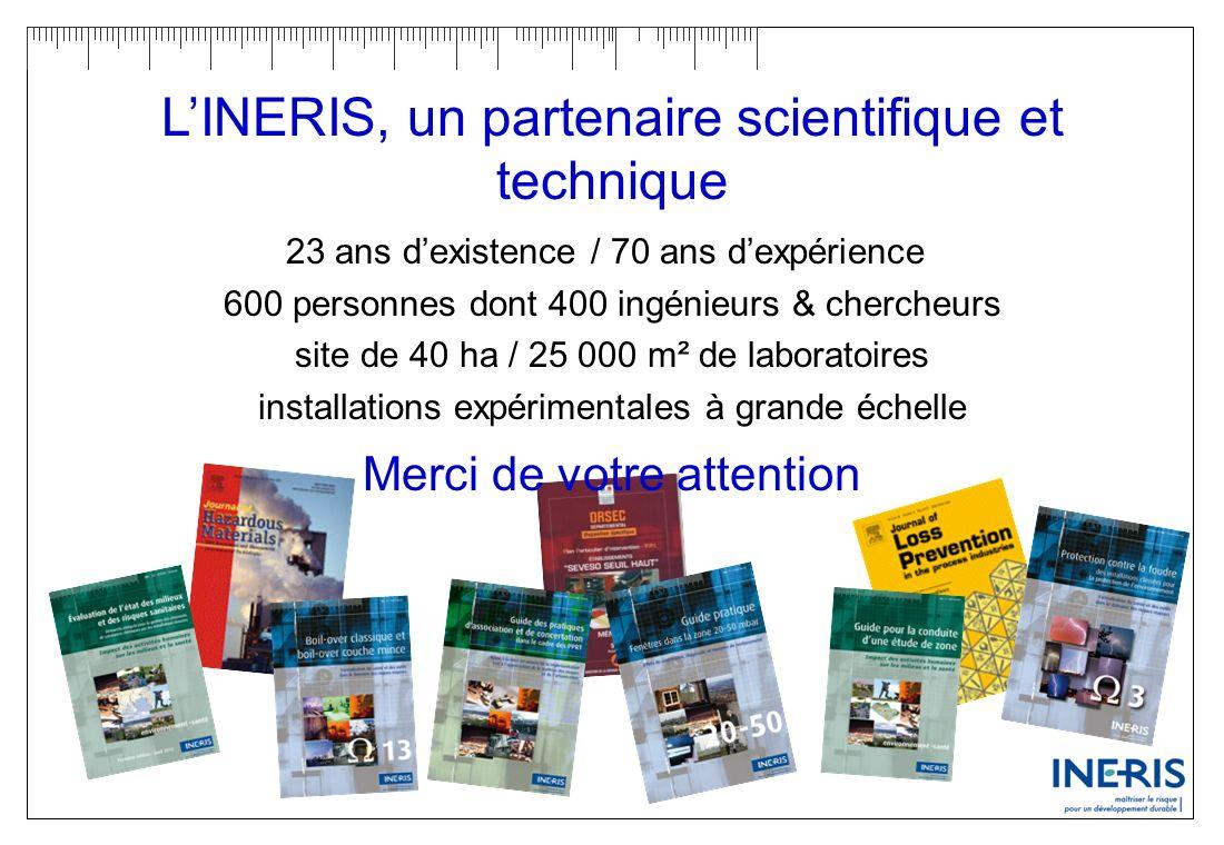 L'INERIS, un partenaire scientifique et technique