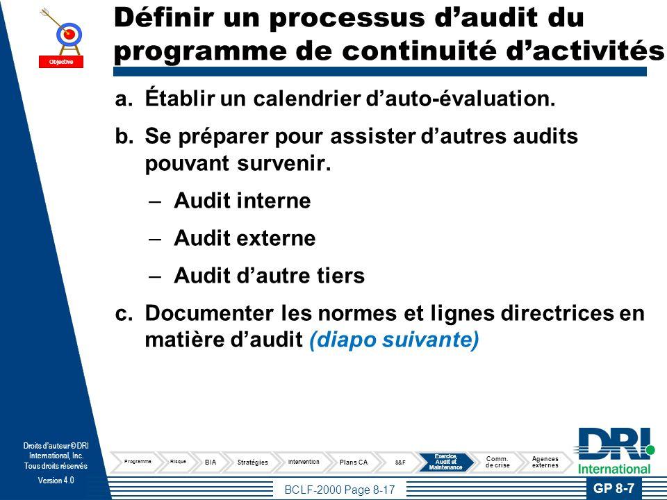 Documenter les normes et lignes directrices en matière d'audit