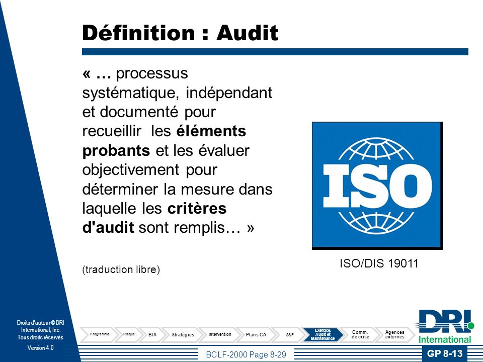 Définitions d'audit (traduction libre)