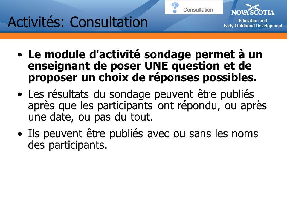 Activités: Consultation