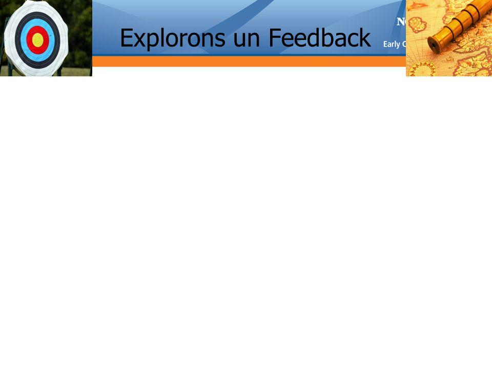 Explorons un Feedback