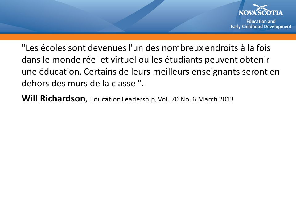 Will Richardson, Education Leadership, Vol. 70 No. 6 March 2013
