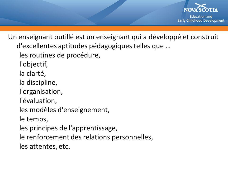 les routines de procédure, l objectif, la clarté, la discipline,