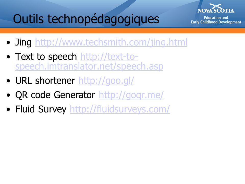 Outils technopédagogiques