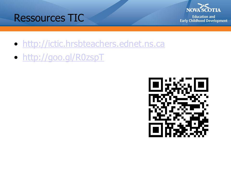 Ressources TIC http://ictic.hrsbteachers.ednet.ns.ca