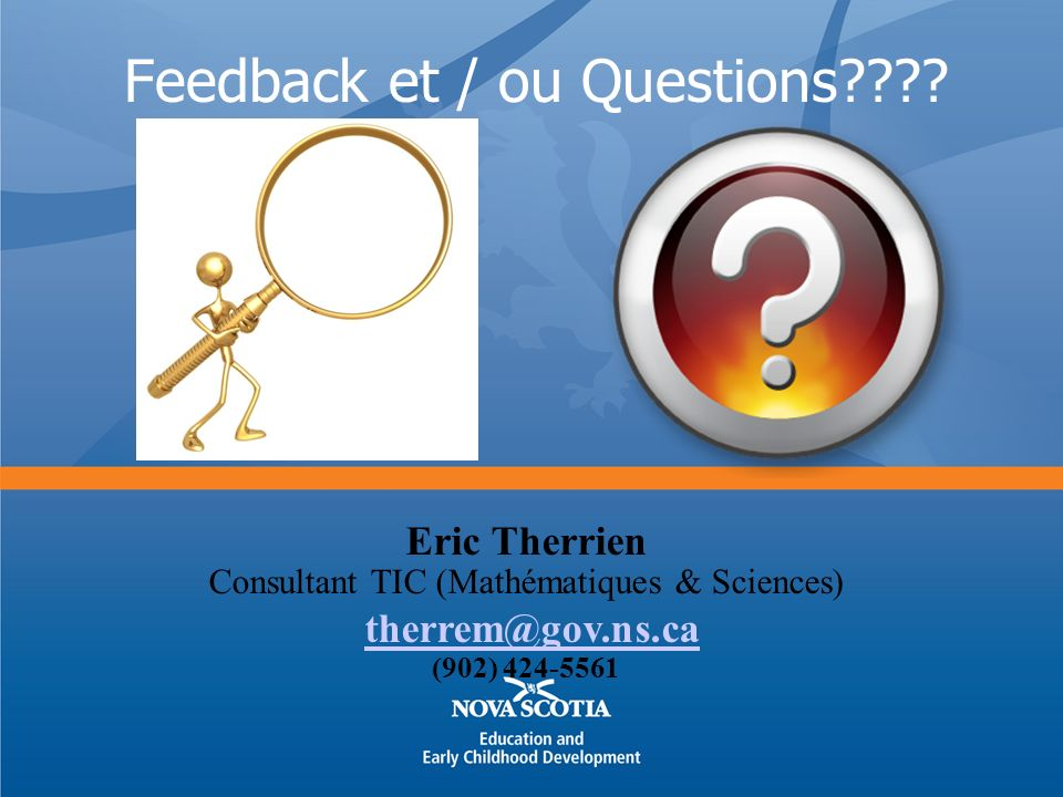 Feedback et / ou Questions