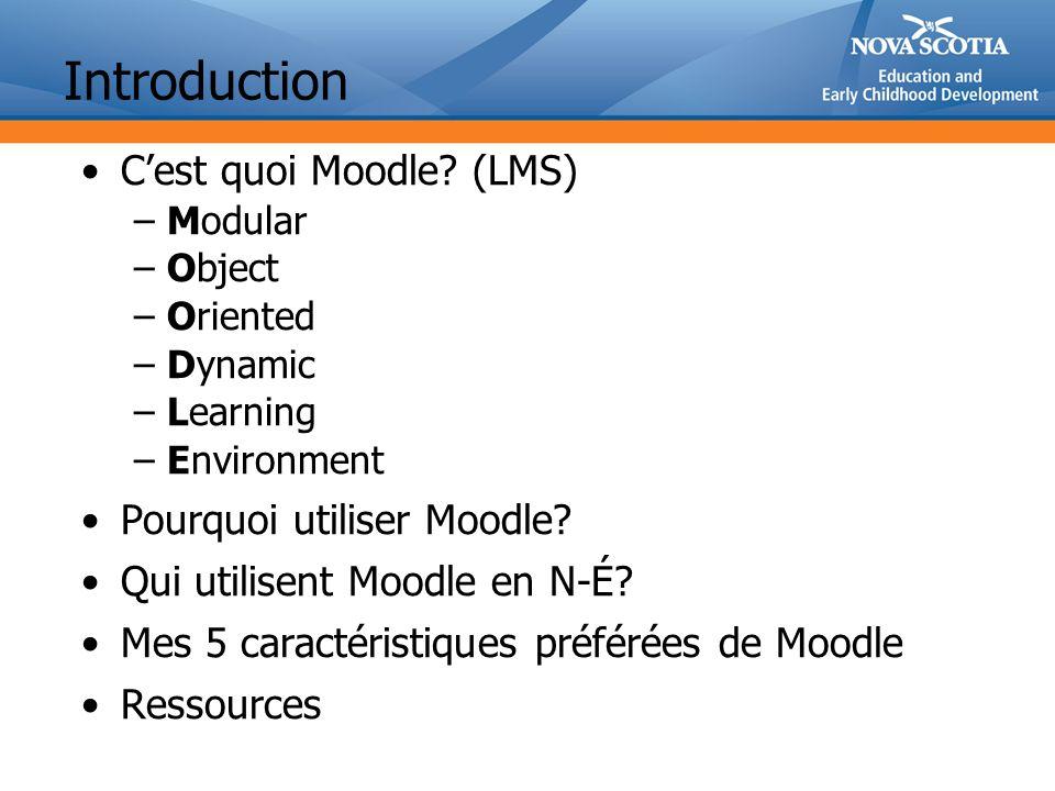 Introduction C'est quoi Moodle (LMS) Pourquoi utiliser Moodle