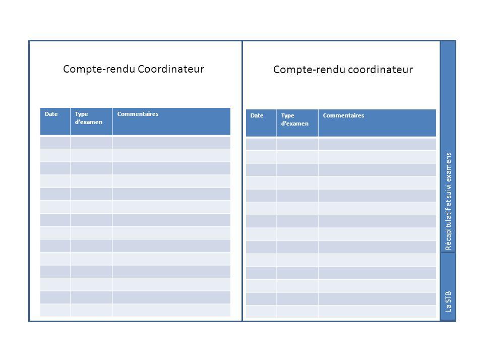 Compte-rendu Coordinateur Compte-rendu coordinateur