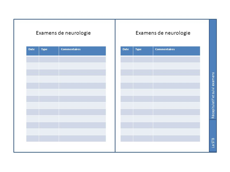 Examens de neurologie Examens de neurologie