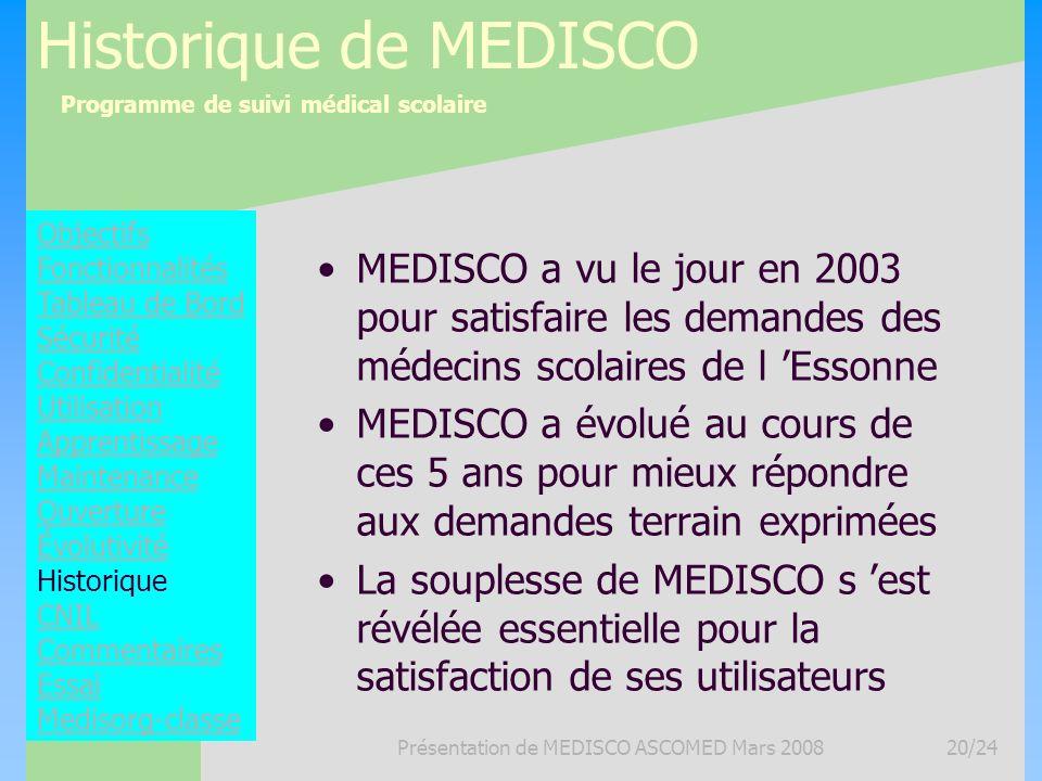 Présentation de MEDISCO ASCOMED Mars 2008
